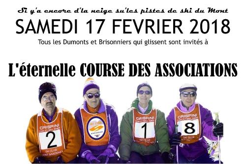 Course de ski des associations